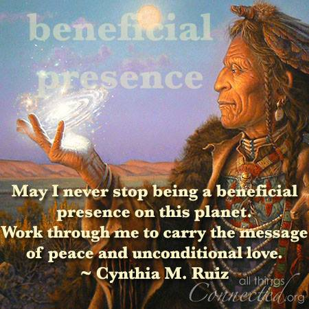 Are you being a beneficial presence on this planet?
