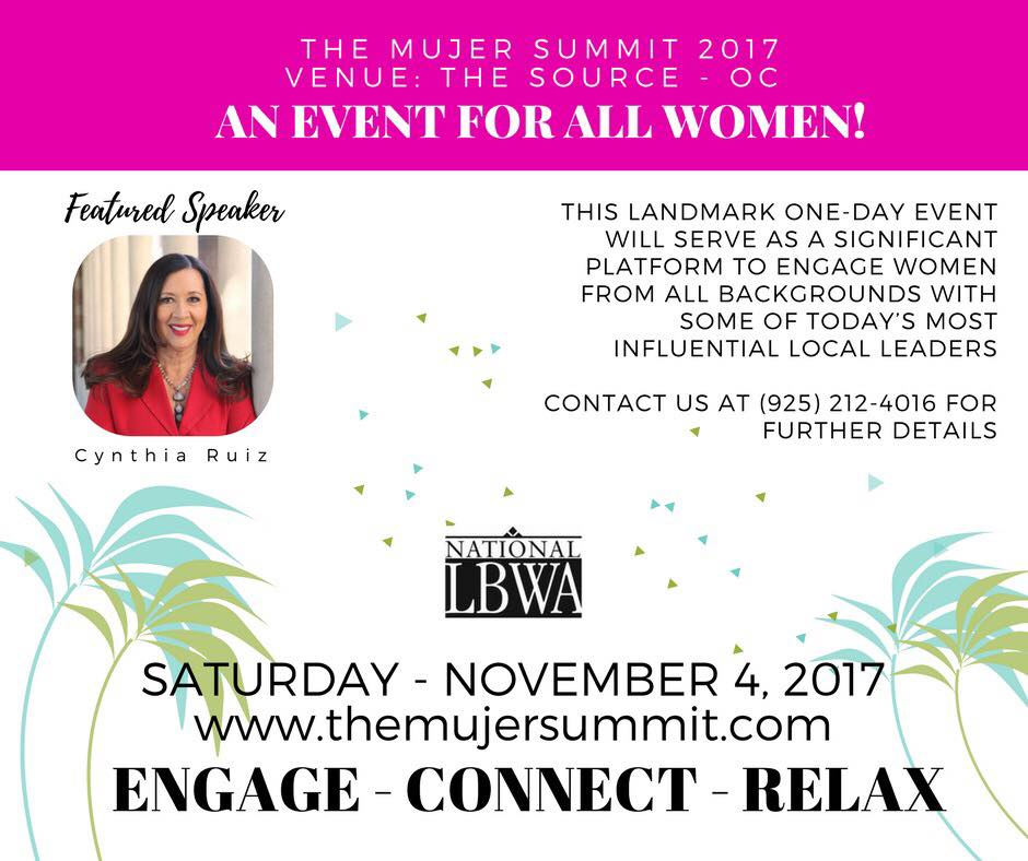 Excited to announce I will be a Speaker at the Mujer Summit 2017