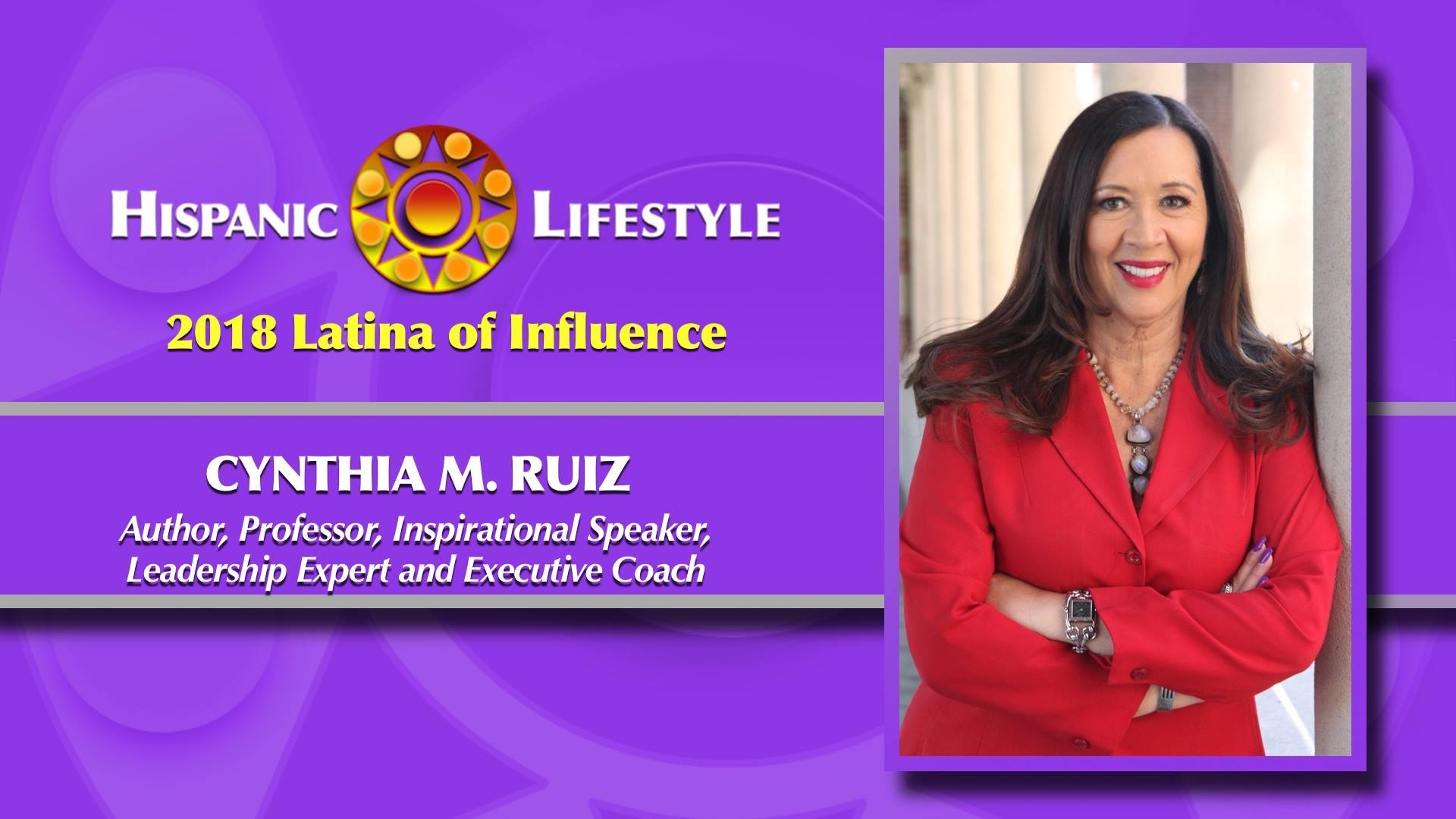 """Thank you Hispanic Lifestyle for naming me a """"2018 Latina of Influence"""""""