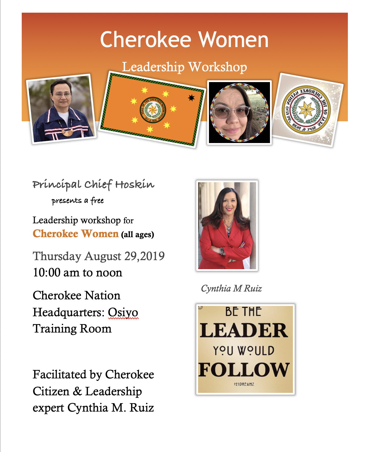 Cherokee Women Leadership Workshop