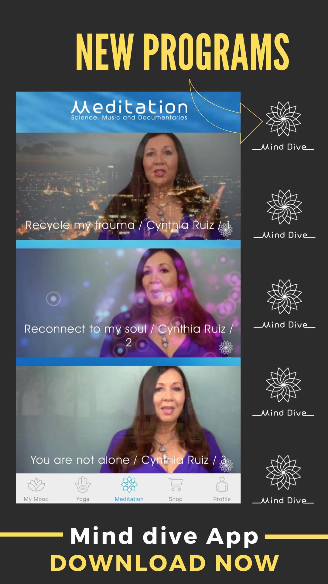 Mind Dive a FREE meditation app