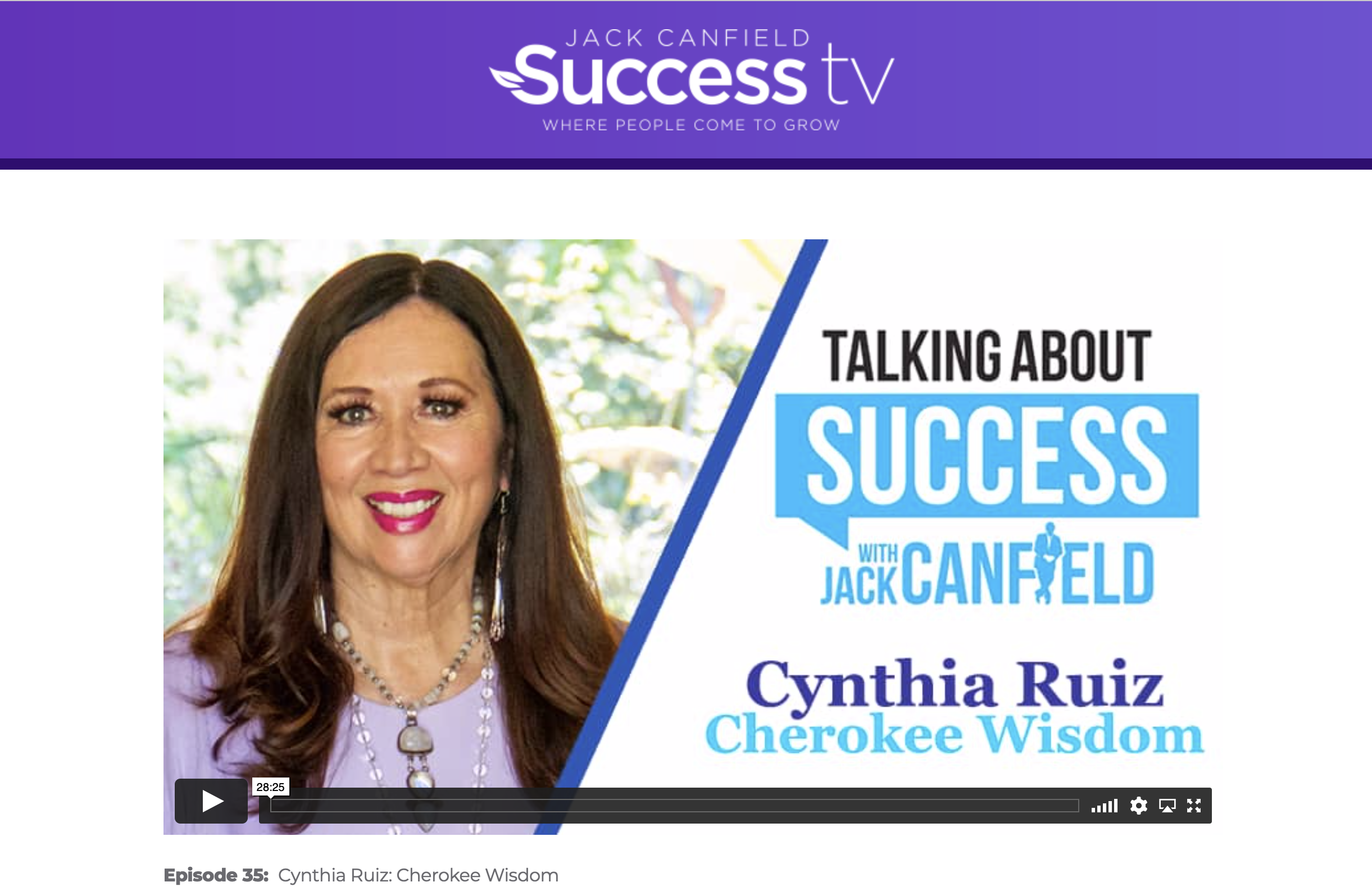 Check out my interview with Jack Canfield on his Talking about Success TV show